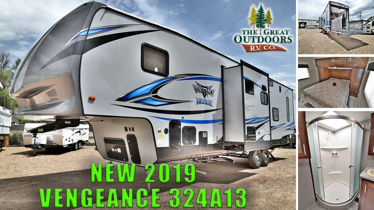New 2019 Vengeance 324a13 Toy Hauler Fifth Wheel Rv Patio Deck
