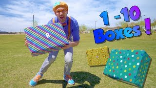 Download Blippi Teaches Numbers 1 to 10 for Children   Surprise Boxes!