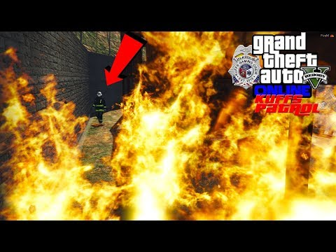 GTA 5 FiveM Firefighter Roleplay Trapped Firefighter At A Construction Site - KUFFS Multiplayer #181