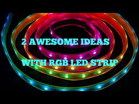 2 AWESOME DIY IDEAS WITH RGB LED STRIP.
