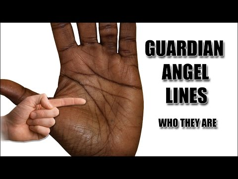 Линия ангела хранителя на руке Хиромантия с разъяснениями
