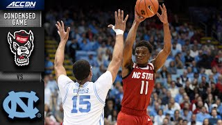 NC State vs. North Carolina Condensed Game | 2019-20 ACC Men's Basketball