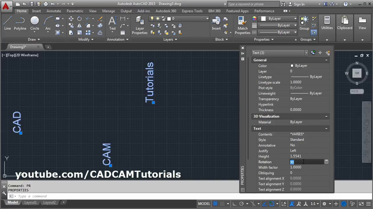 AutoCAD Rotate Multiple Text in Place | AutoCAD Rotate all Text 180 Degrees