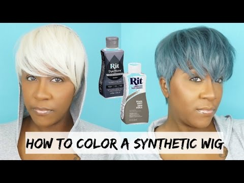 DIY: DYE YOUR SYNTHETIC WIG A DIFFERENT COLOR | 5 MINUTE TUTORIAL