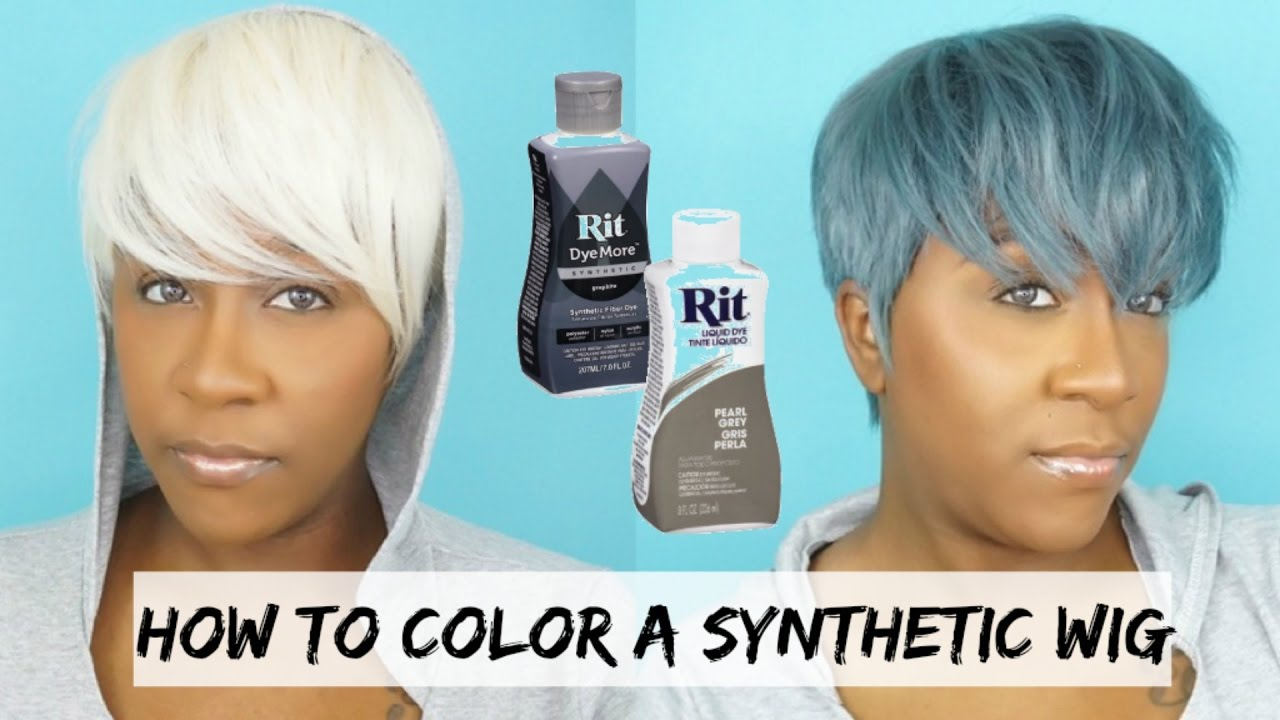 DIY: DYE YOUR SYNTHETIC WIG A DIFFERENT COLOR | 5 MINUTE TUTORIAL ...