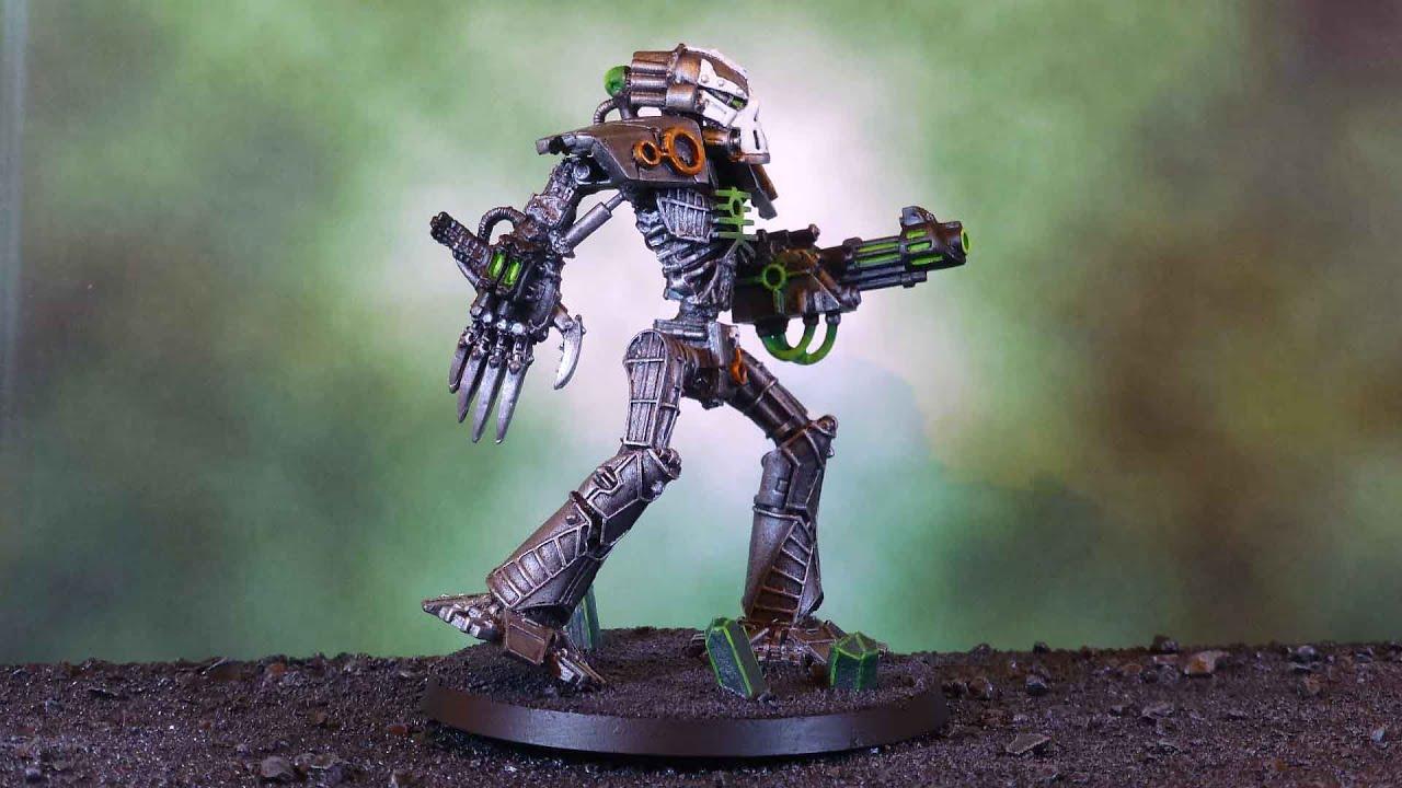 Necron Transcendent C Tan Walker Battle Report Youtube