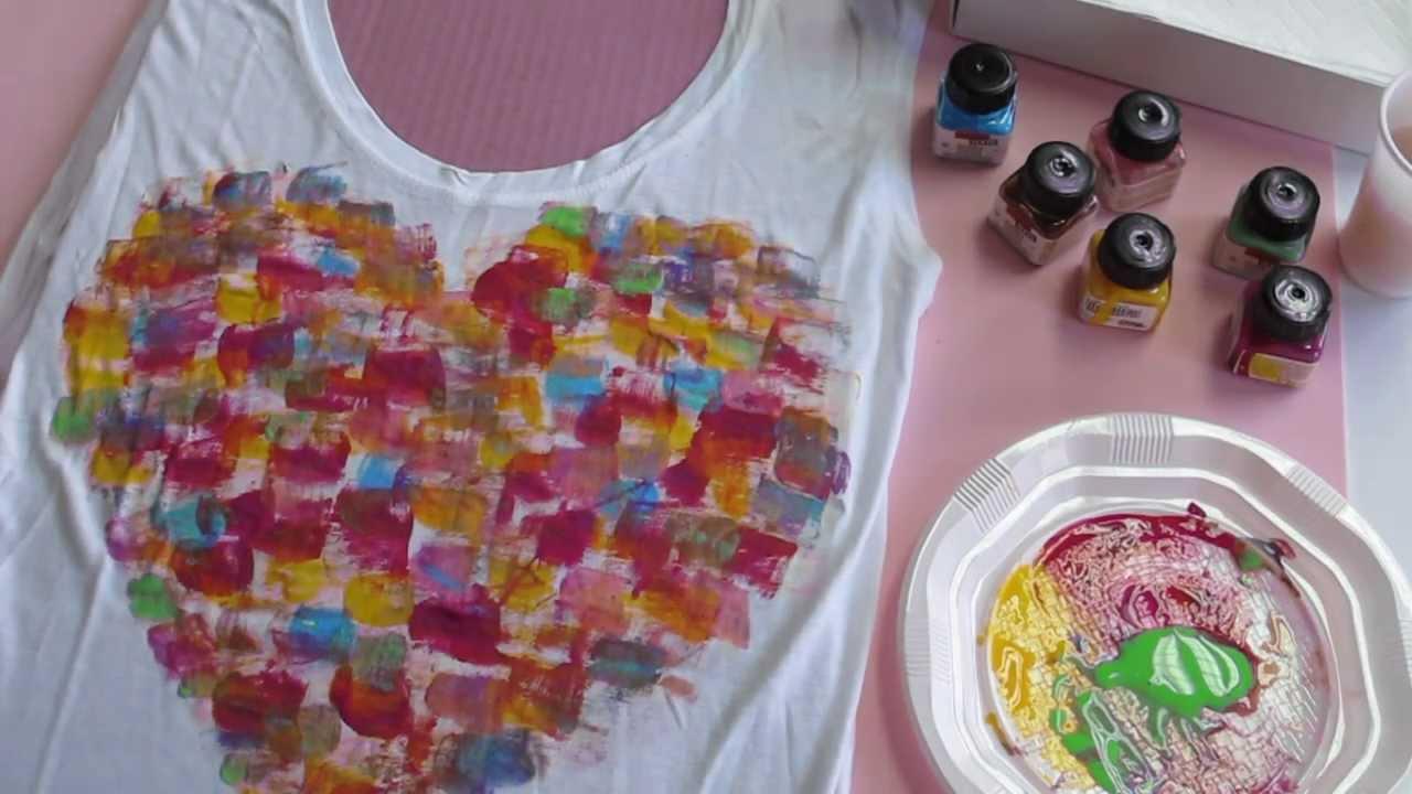 C mo customizar una camiseta con pintura textil mummy - Pintura para camisetas ...