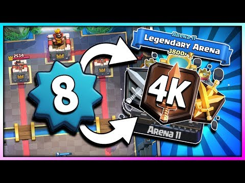 LEVEL 8 in LEGENDARY ARENA 12!! PUSH TO 4K TROPHY!! Clash Royale Road to Challenger 1