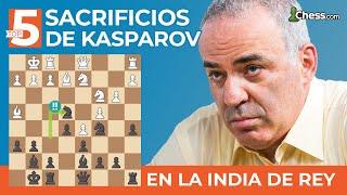 Top 5 ajedrez   Sacrificios de Kasparov en la India de Rey