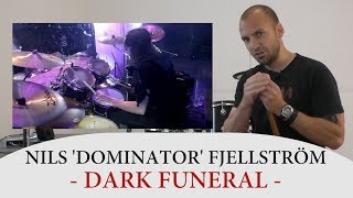 Drum Teacher Reacts to Nils 'Dominator' Fjellström - Former Drummer of Dark Funeral
