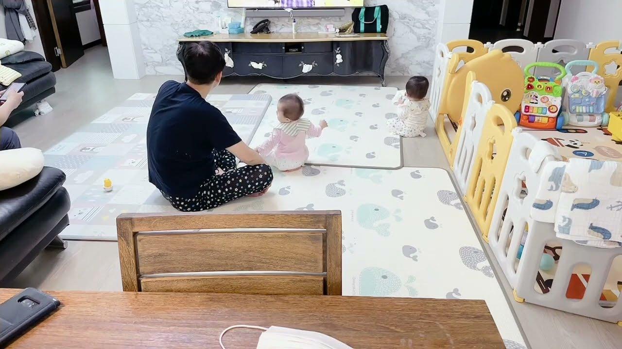 中國媳婦不在家,韓國老公是如何帶娃的?孩子哭了該咋辦?