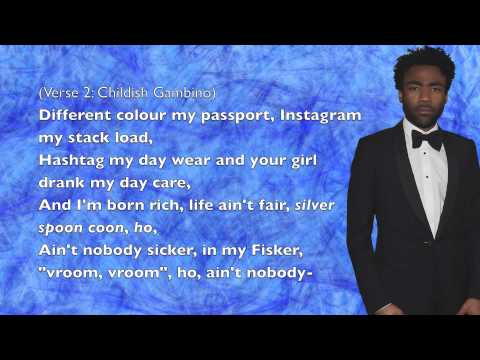 Childish Gambino - Sweatpants - Lyrics