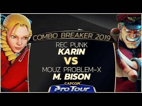REC Punk (Karin) vs MOUZ Problem-X (M. Bison) - Combo Breaker 2019 Grand Finals - CPT 2019