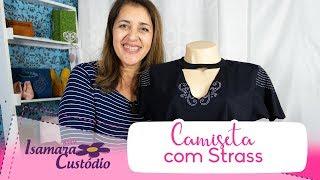 Camiseta com Strass – Customização