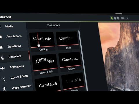The New Camtasia   Behaviors