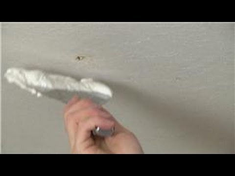 Home Repair Projects How To Patch A Small Hole In The Ceiling You