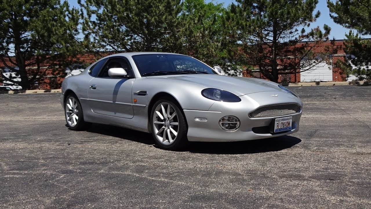 2002 aston martin db7 vantage in stronsay silver v12 engine sound