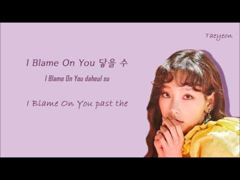 Free Download Taeyeon(태연) - I Blame On You Lyrics [han rom eng] Mp3 dan Mp4