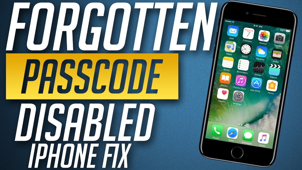 forgot passcode to iphone how to remove forgotten password from iphone 8 7 amp 7 plus 14135
