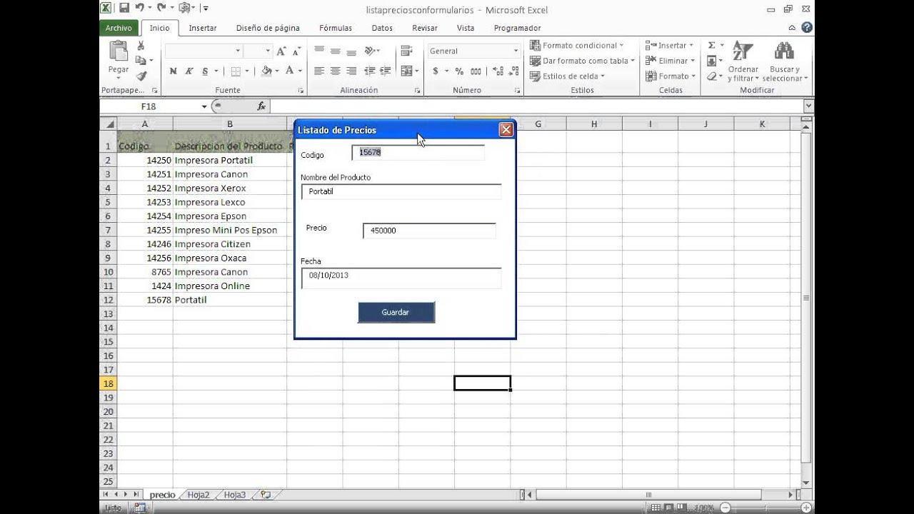 C mo validar datos en formularios de excel validando entrada de datos numericos y fechas youtube - Como vallar un campo ...