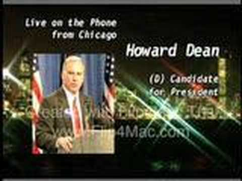 Obama questions Howard Dean on Iraq in 2003