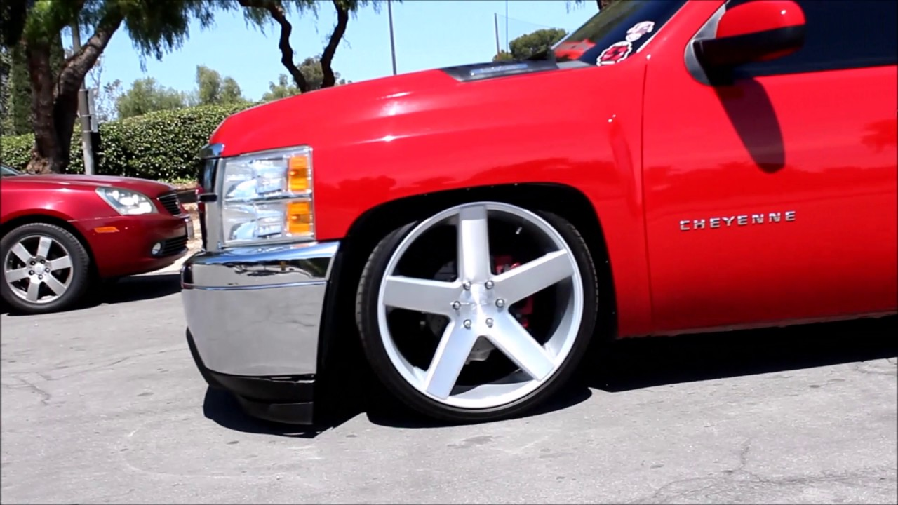 2013 Silverado Hd Dropped On 24 Dub Ballers Hdst Youtube