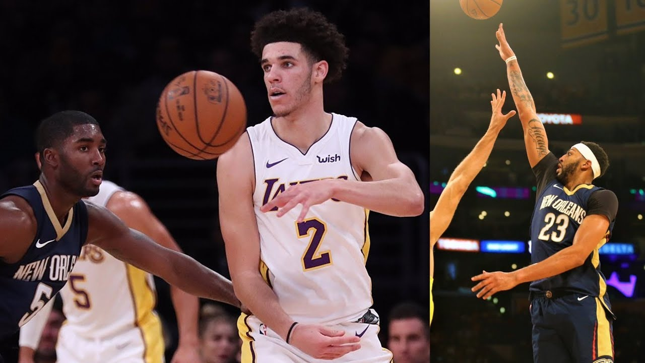 Lonzo Ball 24 Plus Minus Jameer Nelson S Pelicans Debut Pelicans Vs Lakers 2017 18 Season Youtube