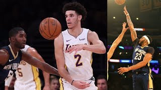 Lonzo Ball -24 Plus Minus! Jameer Nelson's Pelicans Debut! Pelicans vs Lakers 2017-18 Season