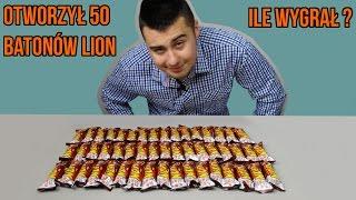 Otworzył 50 batonów LION. ILE WYGRAŁ!?