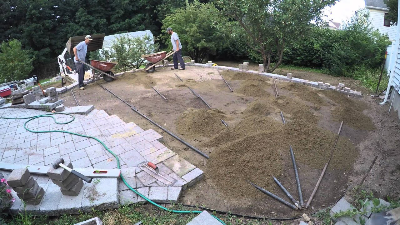 Paver Patio Installation with Techo Bloc Mista Random Pavers