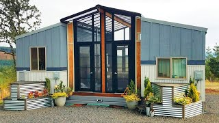 THE OHANA Combines Two 24' Tiny Homes Connected with a Sunroom Deck in Between from Viva Collectiv