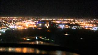PA38 Night Landing at Fresno Yosemite Intl - KFAT