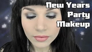 New Years Party Makeup! Silver & Sparkle!