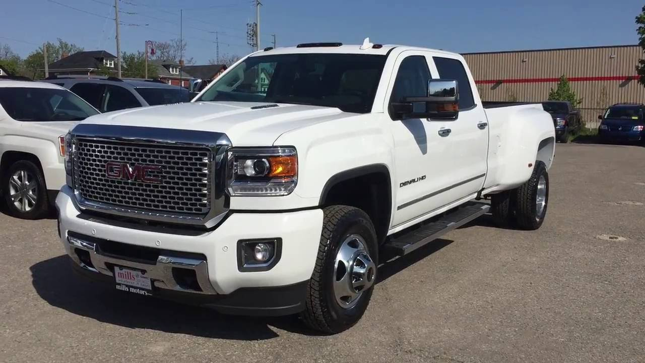 2016 GMC Sierra 3500HD Denali Crew Cab 4WD White Oshawa ON ...