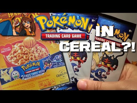 Opening 3 Packs of Pokemon Cards from CEREAL BOXES? Exclusive Pokemon Promo Cards in Pokemon Cereal!