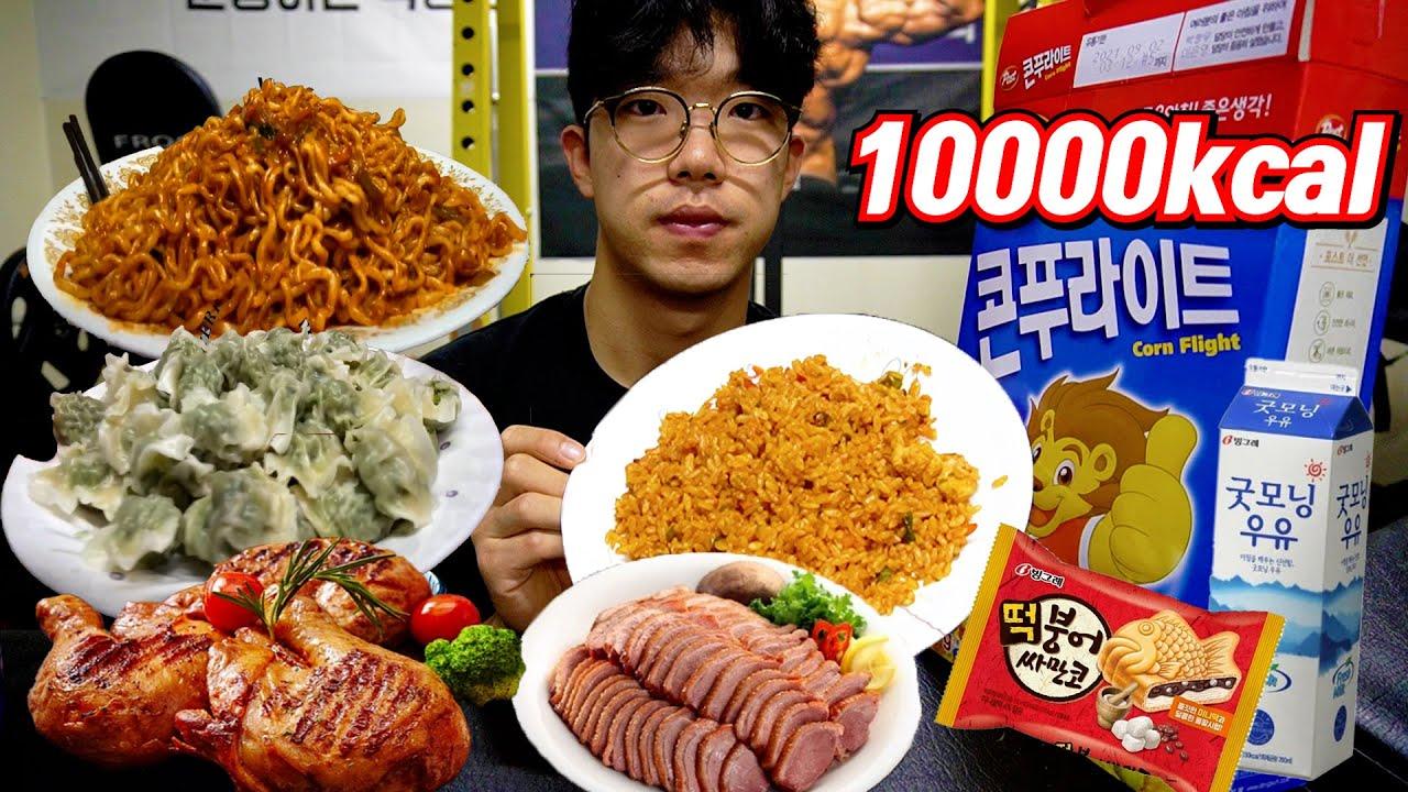 다이어트 다 때려치우고 하루만에 10,000Kcal 먹어봤습니다.. (10,000Kcal challenge)