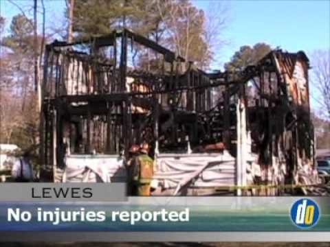 Delaware Online News Video: Fire destroys home near Lewes