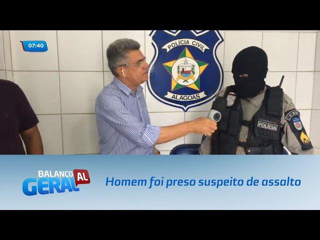 Homem foi preso suspeito de assalto no bairro do Clima Bom