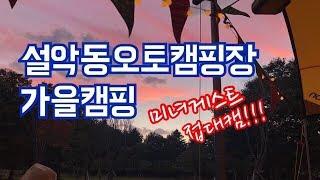 미녀게스트접대캠/설악동오토캠핑장/Camping ASMR/캠핑먹방