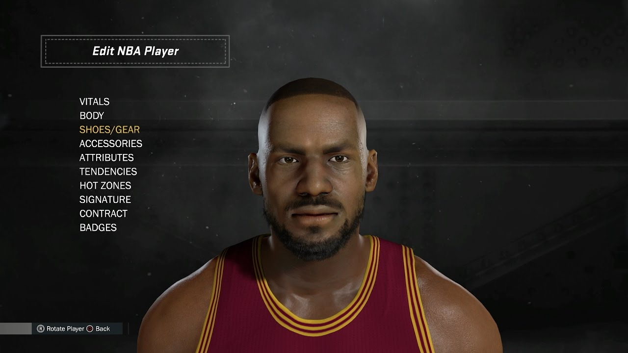 91ea1e9e2b54a How To Create LeBron James in NBA 2K17 - YouTube