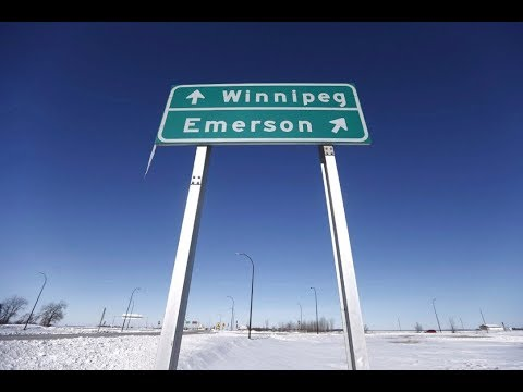 Winnipeg to Emerson (America border) to Pembina ND and back