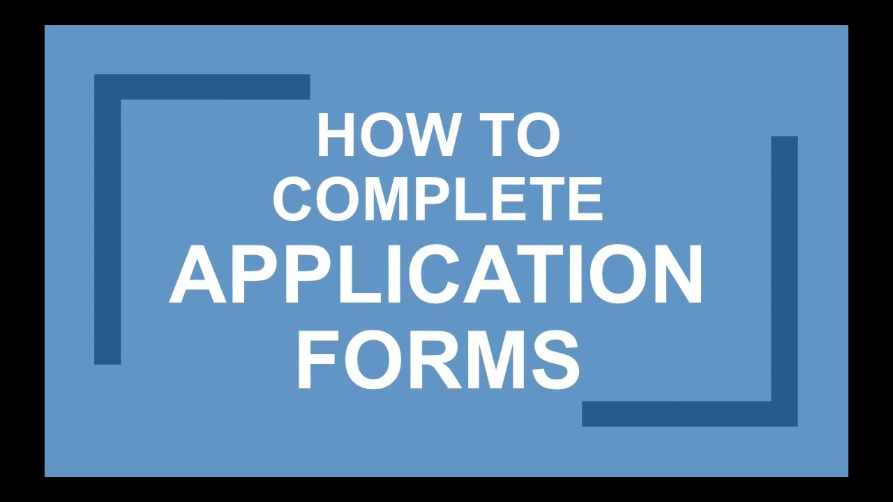 how to fill in job application forms career help youtube