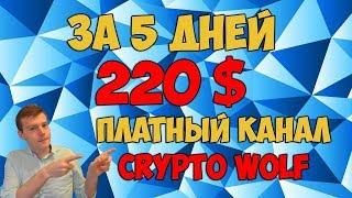 😎Торговля криптовалютой по сигналам 💰за 5 дней 220 долларов. 🚀Платный канал Crypto Wolf(, 2017-12-13T20:01:20.000Z)