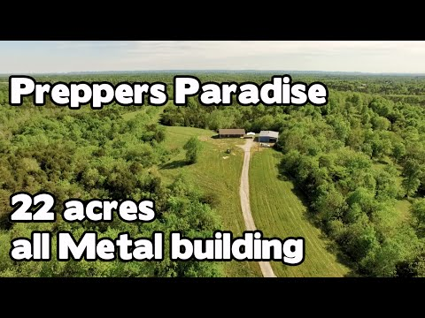 Preppers Paradise All brick home on 22 acres with 40x50 all metal building