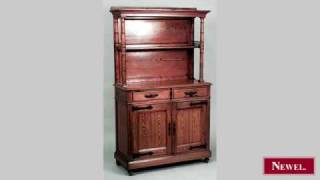 Antique French Provincial Pine Hutch Cabinet With Wrought