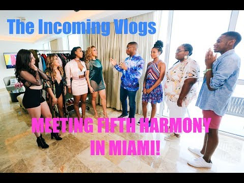 THE INCOMING VLOGS: MEETING FIFTH HARMONY IN MIAMI! DAY 1