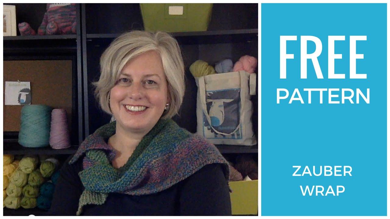 Easy Free Knitting Pattern: Zauber Wrap - YouTube