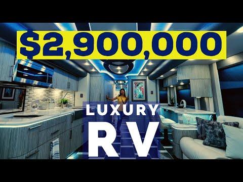 $2.9 MILLION LUXURY RV - Foretravel Prevost Conversion Motorhome