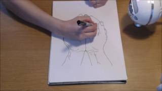 #9 ASMR line drawing with sharpie (no talking / whispering)