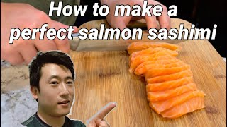 How to make a perfect Salmon Sashimi. How is the sashimi grade salmon from Sam's? Let's find it out!